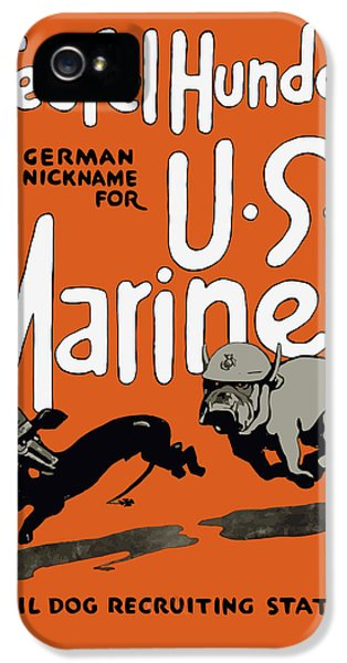 Teufel Hunden - German Nickname For Us Marines IPhone 5 Case by War Is Hell Store