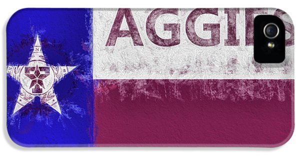 Texas Aggies State Flag IPhone 5 Case by JC Findley