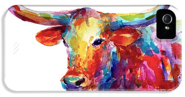Texas Longhorn Art IPhone 5 Case by Svetlana Novikova