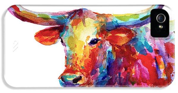 Austin iPhone 5 Case - Texas Longhorn Art by Svetlana Novikova