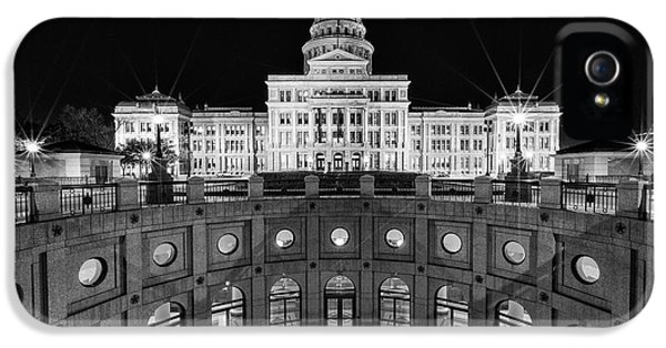 Texas State Capitol - Bw IPhone 5 Case by Stephen Stookey