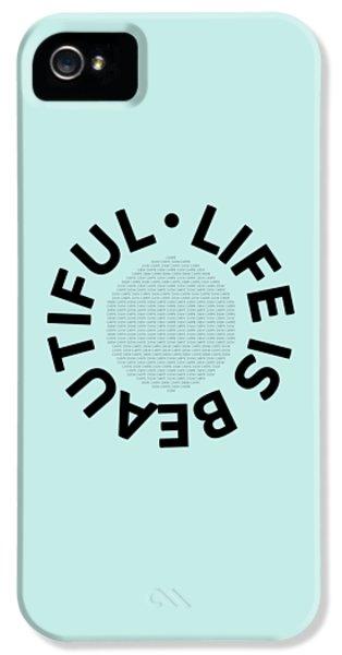 Text Art Life Is Beautiful - Carpe Diem IPhone 5 Case