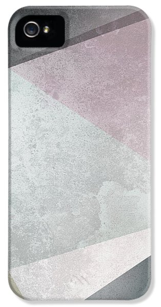Rose iPhone 5 Case - Textured Geometric Triangles by Pati Photography