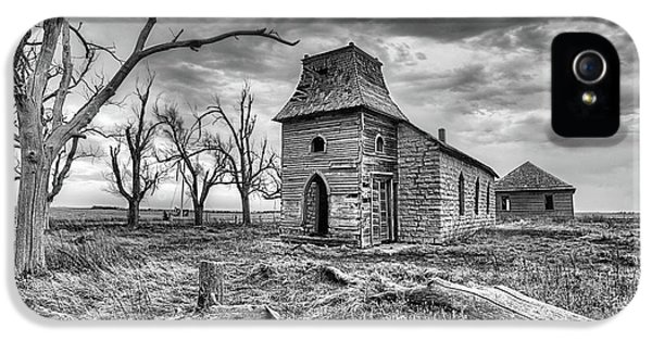 IPhone 5 Case featuring the photograph That Old Time Religion Black And White by JC Findley