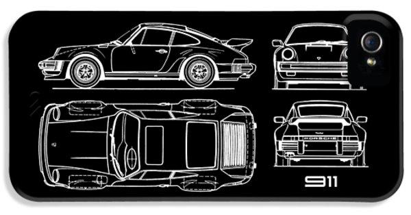 The 911 Turbo Blueprint IPhone 5 Case