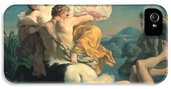 The Abduction Of Deianeira By The Centaur Nessus IPhone 5 / 5s Case by Louis Jean Francois Lagrenee