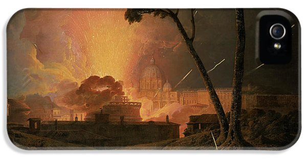 The Annual Girandola At The Castel Sant'angelo, Rome IPhone 5 Case by Joseph Wright