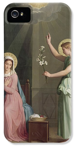 The Annunciation IPhone 5 Case by Auguste Pichon