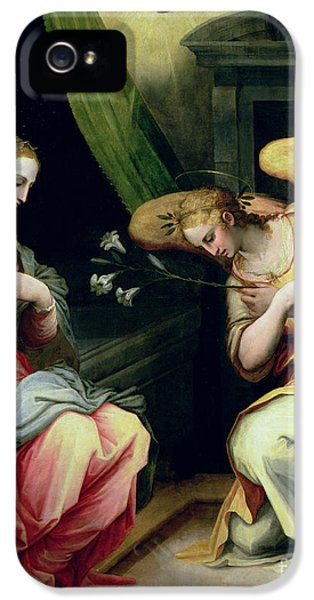 The Annunciation IPhone 5 / 5s Case by Giorgio Vasari