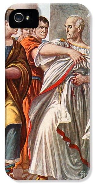 The Assassination Of Julius Caesar IPhone 5 Case by Tancredi Scarpelli