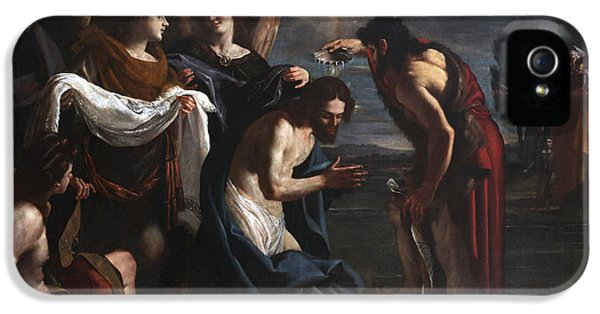 The Baptism Of Christ IPhone 5 Case by Emilio Savonanzi