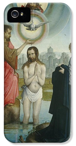 The Baptism Of Christ IPhone 5 Case by Juan De Flandes