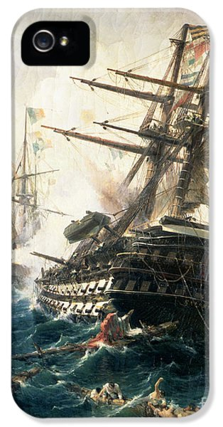 The Battle Of Lissa IPhone 5 Case by Constantin Volonakis