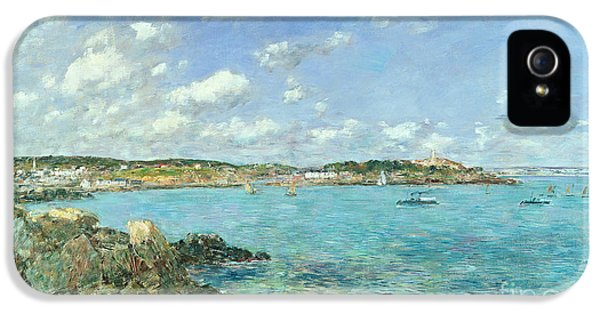 The Bay Of Douarnenez IPhone 5 Case by Eugene Louis Boudin