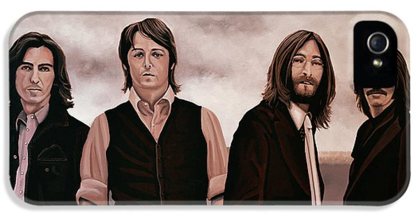 Rock And Roll iPhone 5 Case - The Beatles 3 by Paul Meijering