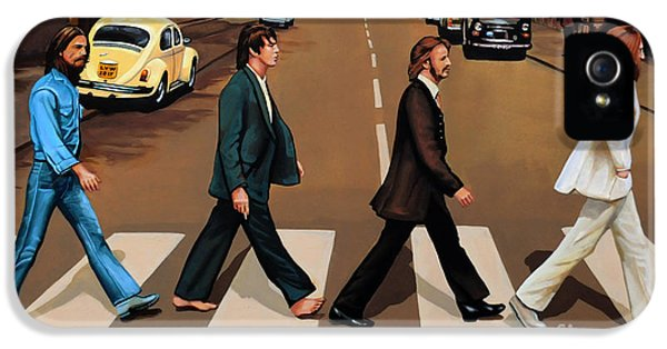The Beatles Abbey Road IPhone 5 / 5s Case by Paul Meijering