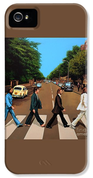 Music iPhone 5 Case - The Beatles Abbey Road by Paul Meijering