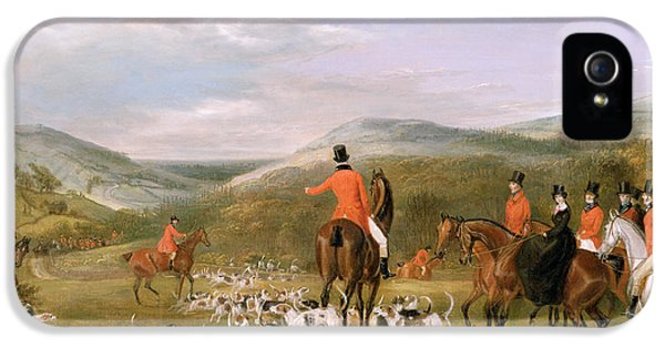 Rural Scenes iPhone 5 Case - The Berkeley Hunt by Francis Calcraft Turner
