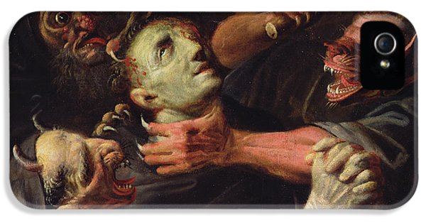 The Blessed Guillaume De Toulouse Tormented By Demons IPhone 5 Case by Ambroise Fredeau
