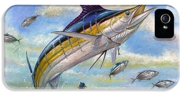 The Blue Marlin Leaping To Eat IPhone 5 Case by Terry  Fox