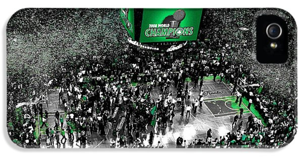 The Boston Celtics 2008 Nba Finals IPhone 5 Case by Brian Reaves