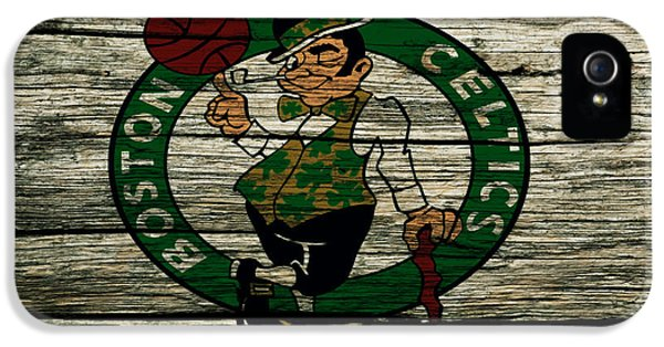 The Boston Celtics 2w IPhone 5 Case by Brian Reaves