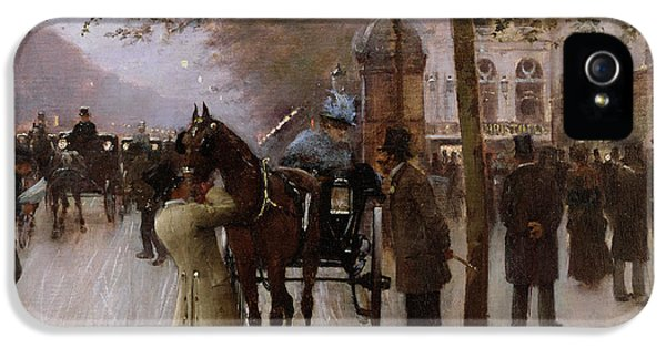The Boulevards IPhone 5 Case by Jean Beraud