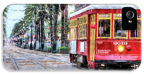 IPhone 5 Case featuring the photograph The Canal Street Streetcar by JC Findley