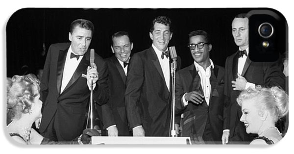 The Cast Of Ocean's 11 And Members Of The Rat Pack. IPhone 5 Case by The Titanic Project