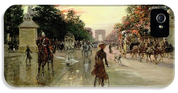 The Champs Elysees - Paris IPhone 5 Case by Georges Stein
