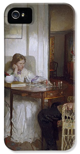 The Chess Players IPhone 5 Case by Sir William Orpen