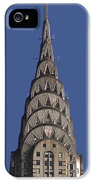 The Chrysler Building - Deco Detail IPhone 5 / 5s Case by Rona Black