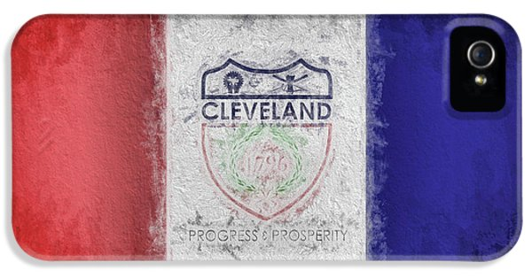 IPhone 5 Case featuring the digital art The Cleveland City Flag by JC Findley