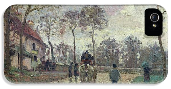 The Coach To Louveciennes IPhone 5 Case by Camille Pissarro