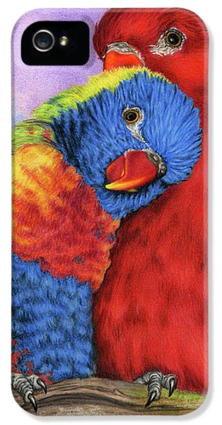 Lovebird iPhone 5 Case - The Color Of Love by Sarah Batalka