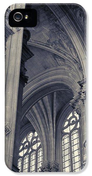 The Columns Of Saint-eustache, Paris, France. IPhone 5 Case by Richard Goodrich