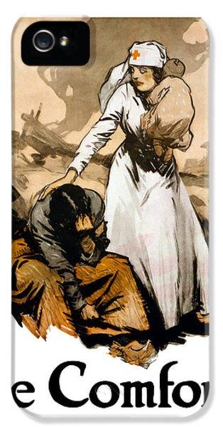 Cross iPhone 5 Case - The Comforter - World War One Nurse by War Is Hell Store