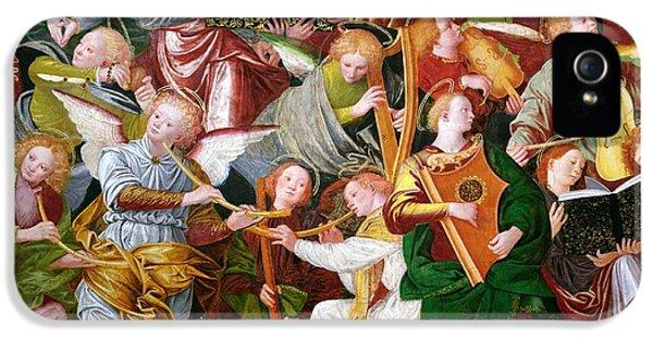 Trumpet iPhone 5 Case - The Concert Of Angels by Gaudenzio Ferrari