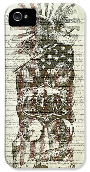 The Constitution Of The United States Of America IPhone 5 Case by Dan Sproul