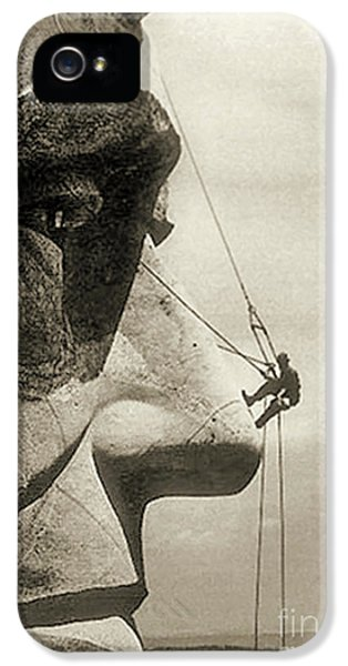 The Construction Of The Mount Rushmore National Memorial, Detail Of Abraham Lincoln,1928  IPhone 5 Case by American School