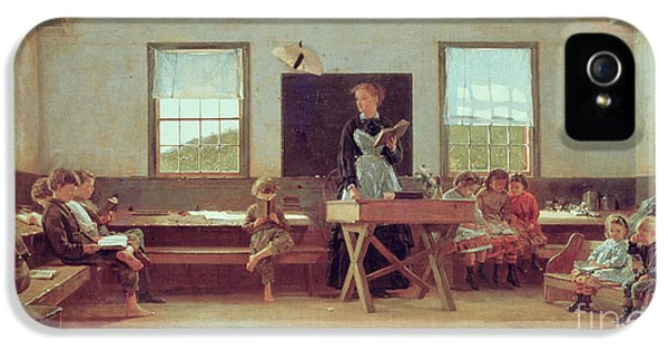 Homer iPhone 5 Cases - The Country School iPhone 5 Case by Winslow Homer