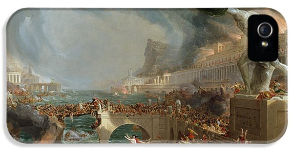 The Course Of Empire - Destruction IPhone 5 Case by Thomas Cole