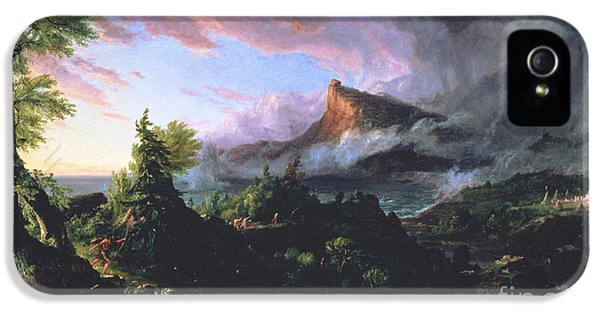 The Course Of Empire - The Savage State IPhone 5 Case by Thomas Cole