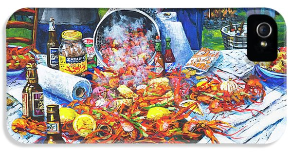 Food And Beverage iPhone 5 Case - The Crawfish Boil by Dianne Parks