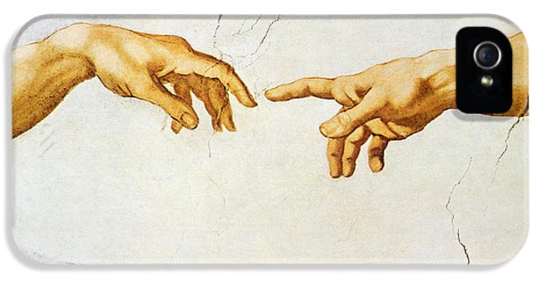 The Creation Of Adam IPhone 5 Case by Michelangelo Buonarroti