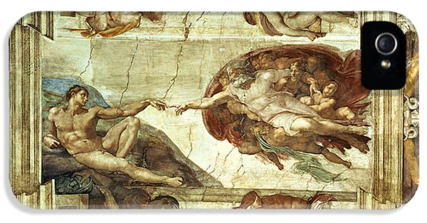 The Creation Of Adam IPhone 5 Case by Michelangelo