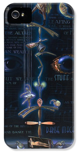 The Danse Macabre IPhone 5 Case by Patrick Anthony Pierson