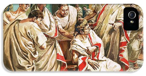 The Death Of Julius Caesar  IPhone 5 Case by C L Doughty