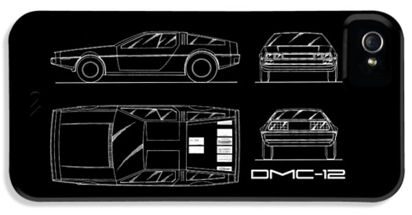The Delorean Dmc-12 Blueprint IPhone 5 Case