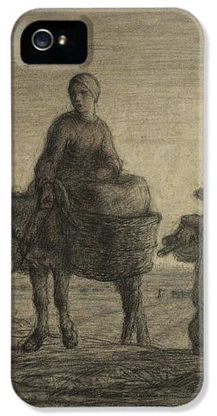 The Departure For Work IPhone 5 Case by Jean-Francois Millet